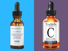 """I compared 2 vitamin C serums that cost $20 and $165  and it turns out the expensive one is worth the cost -    Vitamin C serums get down to the cellular level to protect skin from free radicals which can damage skin in the forms of discoloration fine lines and wrinkles.  SkinCeuticals C E Ferulic ($166) has been heralded the """"gold standard"""" in vitamin C serums by dermatologists for it's scientifically-backed formula.  I had heard that TruSkin Naturals mak #VitaminCMask"""