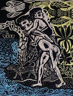 "De la Serie ""Juanito Laguna"" de Antonio Berni. Etchings, Block Prints, Season 2, Art Forms, Printmaking, Colors, Tatuajes, Paintings, Artists"