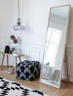 nice big stand up mirror option typisch danisches design edler standspiegel von
