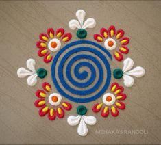 Simple Rangoli Border Designs, Easy Rangoli Designs Diwali, Rangoli Designs Latest, Rangoli Designs Flower, Free Hand Rangoli Design, Small Rangoli Design, Colorful Rangoli Designs, Rangoli Ideas, Beautiful Rangoli Designs
