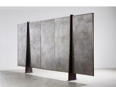 1955_ Screen in Bent sheet steel and perforated sheet aluminum by Jean Prouvé