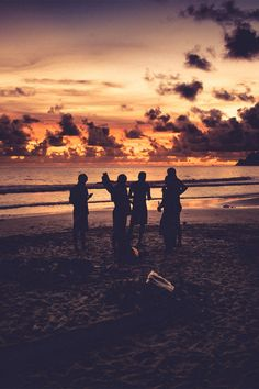 Sunsets At The Beach With Friends Sunset Is Maybe Most Beautiful Part