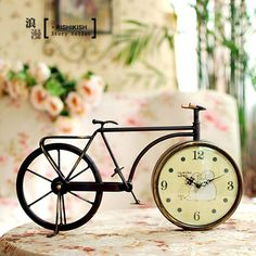 Old bicycle clock