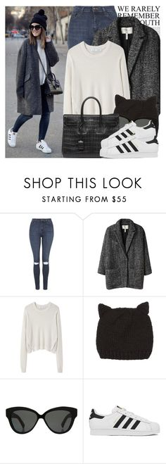 """2154. Blogger Style: Lovely Pepa"" by chocolatepumma ❤ liked on Polyvore featuring Oris, Topshop, Étoile Isabel Marant, Proenza Schouler, dELiA*s, Linda Farrow, Yves Saint Laurent and adidas"