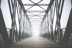 Free Image: Green Old Steel Bridge in the Fog   Download more on picjumbo.com!