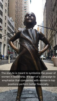 The 'Fearless Girl' takes on Wall Street
