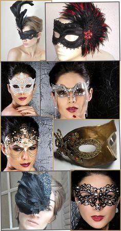 Máscara + Make para um carnaval de luxo