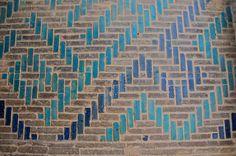 Decorative Brick-and-Tile Design   Masjid-i Jami'-i Isfahan, Esfahan, Iran.