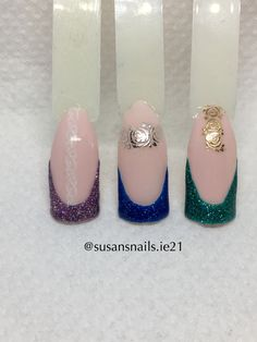 Nail art - French manicure glitter gels