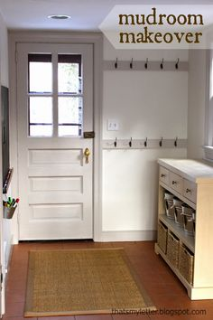 Mudroom drawers/baskets, and the hooks on the wall. Love