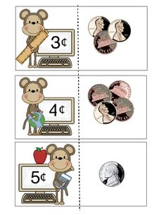 Here is my coin/money matching activity this time using AMERICAN coins.This is a set of 41 cards covering denominations $.0 - $1.00.  The coin va...