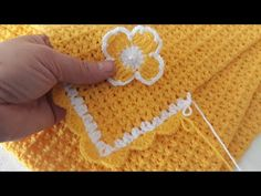 Baby blanket and edge making you can finish in one day örgü # knitting # crochet - ALL IN ONE Crochet Bebe, Knit Crochet, Baby Cardigan, Baby Knitting Patterns, Diy Gifts, All In One, Crochet Earrings, It Is Finished, Make It Yourself