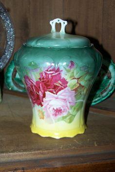 Victorian Era Biscuit Cracker Porcelain Jar