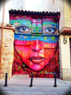 Graffiti art in spain - just as beautiful as I remember it. Artwork by Anarkia 3d Street Art, Murals Street Art, Best Street Art, Amazing Street Art, Street Art Graffiti, Berlin Graffiti, Street Artists, Urban Graffiti, Color Street
