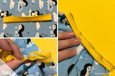 Schlupfmütze nähen - Anleitung und Schnittmuster für eine Schalmütze - Talu.de Diy, Ideas, Dressmaking, Daily Routine Kids, Free Sewing, Crafting, Bricolage, Do It Yourself, Thoughts