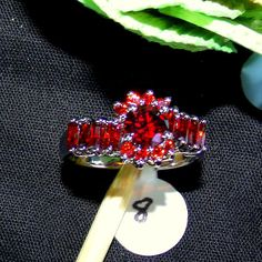Check out this item in my Etsy shop https://www.etsy.com/listing/222548049/faceted-red-garnet-cocktail-ring-6mm