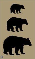 Primitive Stencil, BLACK BEARS 3 Sizes Cabin Rustic Lodge Wilderness Outdoor