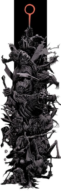Dark Souls 3 bosses splash by uger Dark Souls 3, Funny Dark Souls, Dark Souls 2 Bosses, Demon's Souls, Sketch Video, Soul Game, Arte Horror, Castlevania, Video Game Art