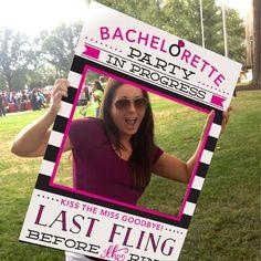 Bachelorette Party Photo Prop - Easy Printable PDF - 24x36 Photo Prop File - Last Fling Before The Ring - Bachelorette Party - DIGITAL FILE