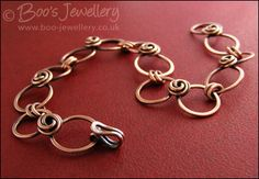 Hand Crafted Jewellery by Boo - original jewellery in Sterling silver and copper - Rosebud knot and hammered loop bracelet - made to order (Powered by CubeCart)