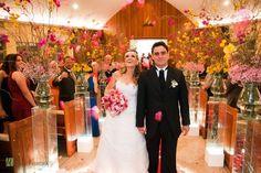 Decoração de casamento de igreja simples.2