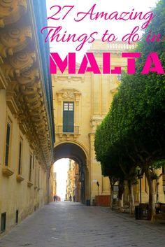 Things to do in Malta | Malta Travel | Malta Attractions | Valletta | Gozo Island | Comino Island | Must see places in Malta | Marsaxlokk Fishing Village| Blue Lagoon Malta | Mdina | Rabat - The island country of Malta in the Mediterranean Sea is a treasure trove of astounding history, spectacular natural sites, beaches, and loads of leisure activities.