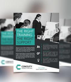 Concility Business Coaching - One Page Flyer Design on Behance