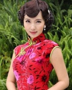 Vintage Chinese hairstyle. Wedding Hairstyle