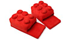 Lego red brick slippers