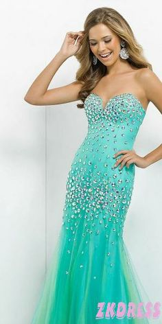 With a higher neckline or a sheer bodice over this, this dress would be gorgeous!