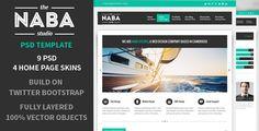 Naba:Multipurpose PSD Business Theme by Jong Hwan, via Behance