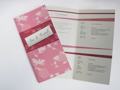Wedding invitation with floral pattern purchased on patterndesigns.com Wedding Invitations, Stationery, Patterns, Cover, Floral, Block Prints, Paper Mill, Stationery Set, Flowers