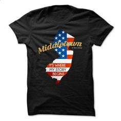 Middletown - New Jersey - Its Where My Story Begins ! V - tshirt printing #teeshirt #t shirts for sale