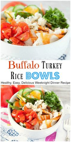 Healthy, gluten-free and perfect for a weeknight, Buffalo flavored turkey breast…