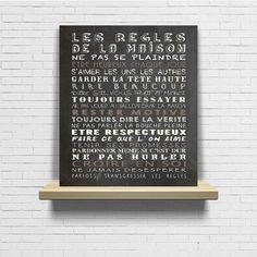 Tableau règles de la maison  tableau à craie  par Artetdeco sur Etsy
