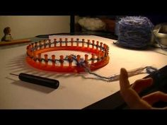 ▶ Loom Knitting - RIBBED STITCH AND CAST ON - YouTube