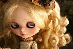 The little lady Adelle  Art piece Blythe doll  Rebeca Cano - Cookie dolls  https://www.facebook.com/CookieDolls  © All rights reserved