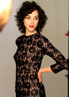 Annie Clark.  I love her hair, but mine's not that curly.  I like it that she is true to herself.