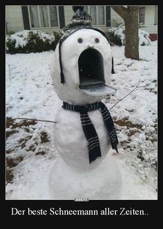 Der beste Schneemann aller Zeiten..   Lustige Bilder, Sprüche, Witze, echt lustig