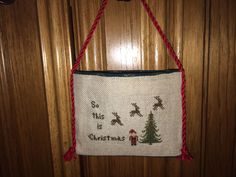 So This is Christmas Christmas Cross Stitch