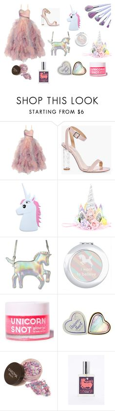 """""""Unicorn Soirée"""" by vanessa-giuliani on Polyvore featuring Marchesa, Boohoo, Forever 21 and FCTRY"""