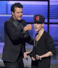 Luke Bryan and Justin Bieber