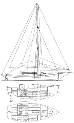 Bristol Channel Cutter 28 drawing on sailboatdata.com
