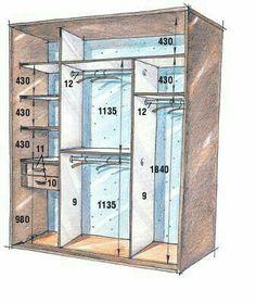 Interior of built-in wardrobe Bedroom Closet Design, Bedroom Wardrobe, Wardrobe Closet, Wardrobe Design, Built In Wardrobe, Closet Designs, Master Closet, Closet Space, Organiser Son Dressing