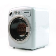 Mini Washing Machine Alarm Clock - Very Funny & Cute   Looks Great & Very Hard To Find - Great Gift Idea & Very Cool Alarm Clock - You Will Love It!
