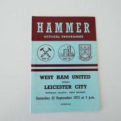 Vintage 1973 West Ham United Versus Leicester City Football Soccer Programme by VintageBlackCatz on Etsy