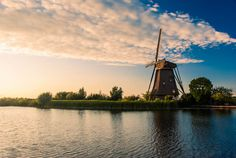 Typical Dutch windmill. For more photographs of landscapes in Holland, please check www.tomsebus.nl