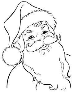 ausmalbild Weihnachtsmann freundlich