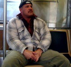 a huge nyc candid cam muscle men big man