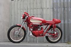 Custom Honda CB350 Red Rocker